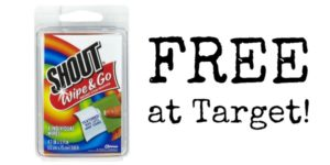 FREE Shout Wipe and Go Wipes at Target!
