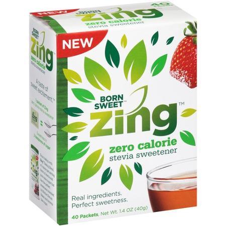 Born Sweet Zing Zero Calorie Stevia Sweetener Packets