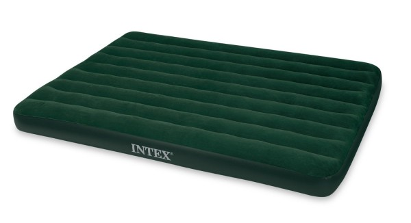 Intex Prestige Downy Airbed Kit with Hand Held Battery Pump, Queen