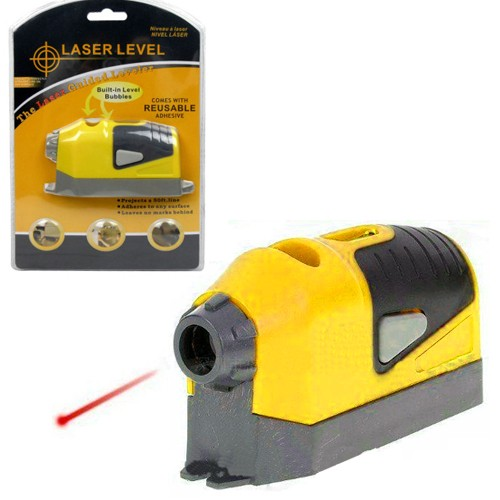 Laser Level Guided Leveler with Built-in Level Bubbles and Reusable Adhesive