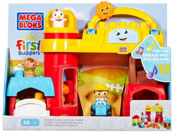 Mega Bloks First Builder Bobby Barn Musical Farm Play Set