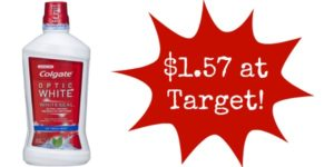Target: Colgate Optic White Mouthwash Only $1.57!