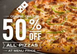 Domino's: 50% Off Pizza!