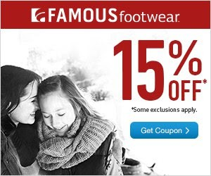 Famous Footwear: Additional 15% Off Coupon!