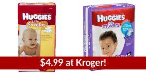 Kroger: Huggies Jumbo Pack Diapers Only $4.99!