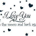 I Love You to the Moon and Back Wall Decal Only $4.95 + FREE Shipping!