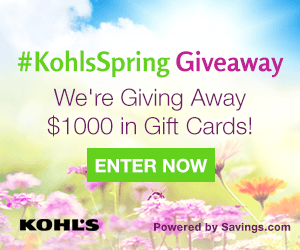 kohl's giveaway