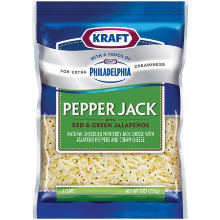 kraft shredded cheese pepperjack