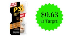 Target: Oscar Mayer P3 Protein Power Packs Only $0.63!