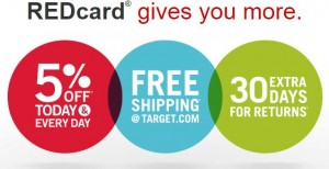 Save 5% on ALL Target Purchases + Get FREE Shipping with Target REDcard!