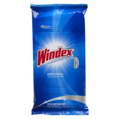 windex glass wipes
