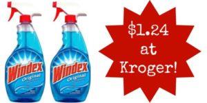 Kroger: Windex Cleaner Only $1.24!