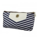 Canvas Navy Style Zipper Pouch 3 pack Only $9.99!