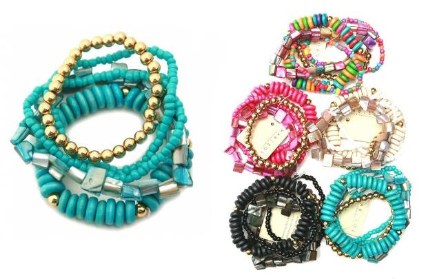 Gold Assorted Multi-Line Stretch Bracelet