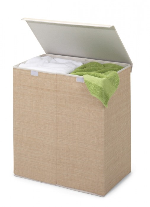 Honey-Can-Do Two-in-One Double Resin Hamper with Cover