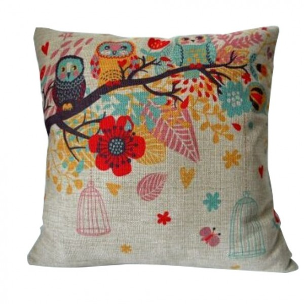 Owls with Birdcage Pillow Cover Only 319 FREE Shipping : Owls with Birdcage Pillow Cover 600x600 from becomeacouponqueen.com size 600 x 600 jpeg 68kB