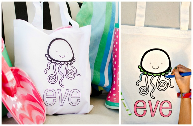 Personalized Color-On Totes