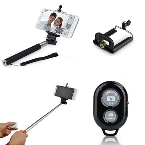 selfie stick with bluetooth remote shutter only free shipping. Black Bedroom Furniture Sets. Home Design Ideas
