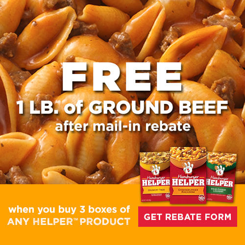 free ground beef promo