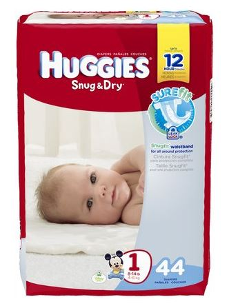 huggies snug and dry jumbo pack size 1