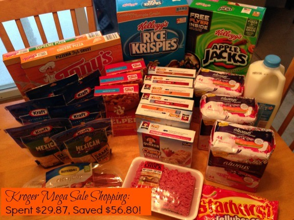 kroger mega sale shopping trip