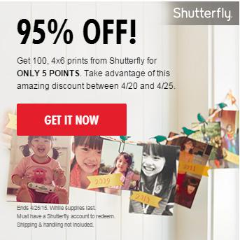 100 4x6 Shutterfly Prints