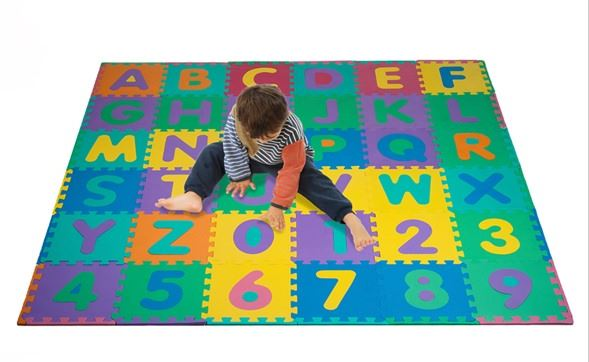 96 Piece Foam Floor Alphabet Number Puzzle Mat Only 19 88