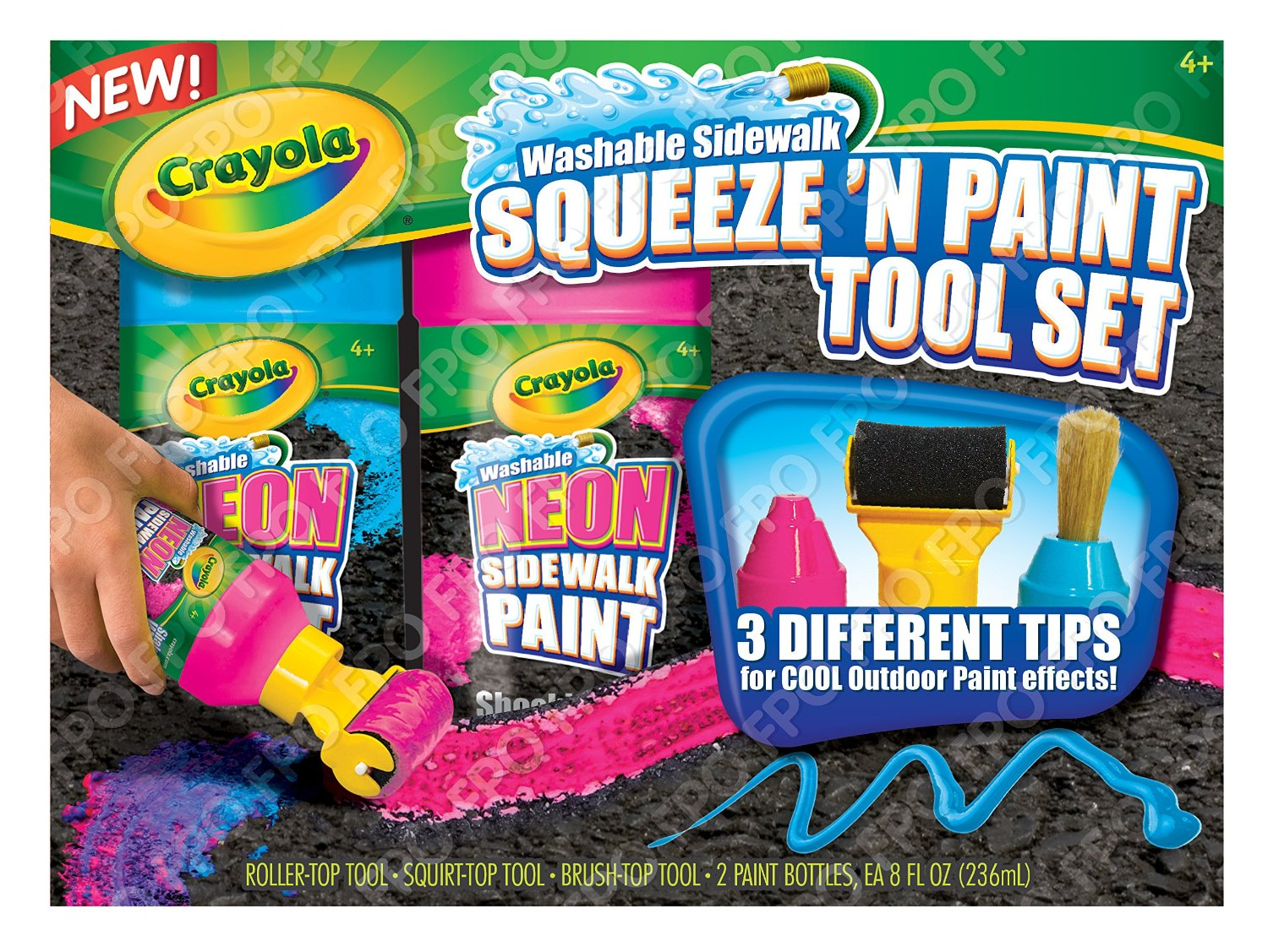 crayola chalk squeeze 39 n paint tool set only. Black Bedroom Furniture Sets. Home Design Ideas