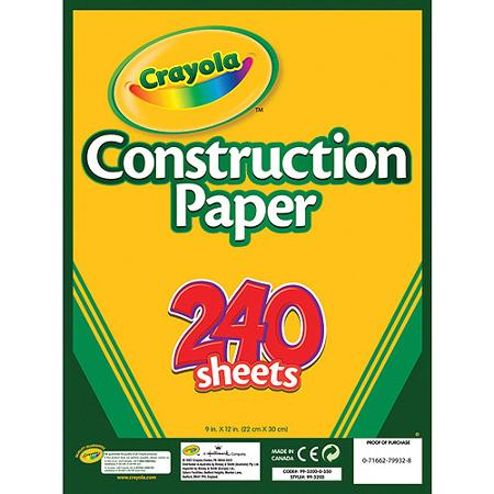 Crayola Construction Paper Pad