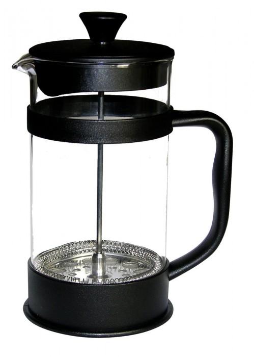 Francois et Mimi Borosilicate Glass French Press Coffee Maker, 34-Ounce, Black