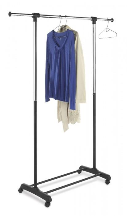 Whitmor Ebony Chrome Collection Extendable Garment Rack
