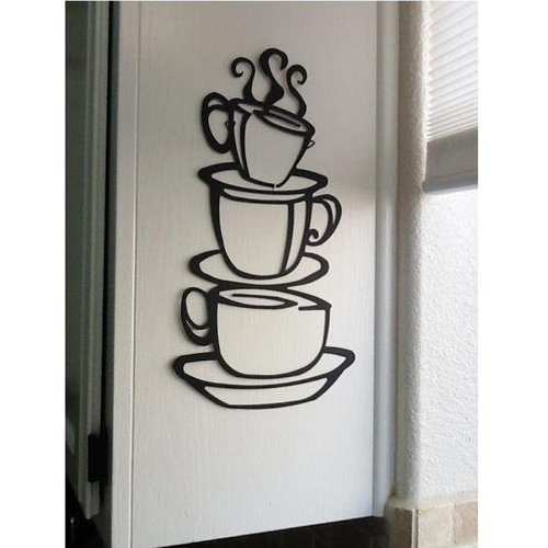 coffee cup wall decal