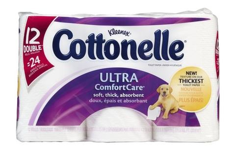 cottonelle ultra care 12 double rolls