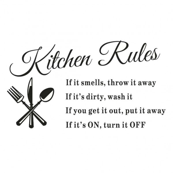 Kitchen Rules Wall Decal Only $2.39 + FREE Shipping