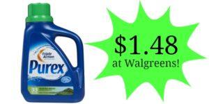 Walgreens: Purex Liquid 24-33 loads Only $1.48!