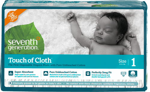 seventh generation touch of cloth jumbo pack diapers