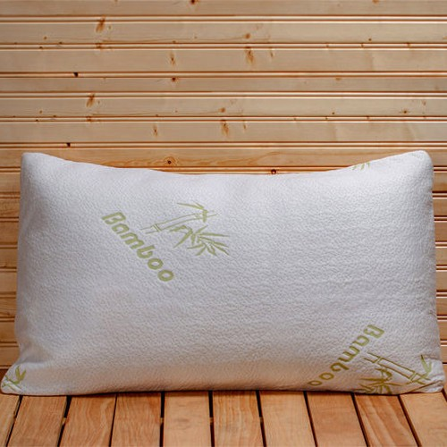 Bamboo Memory Foam Hypoallergenic Pillow with Carry Bag