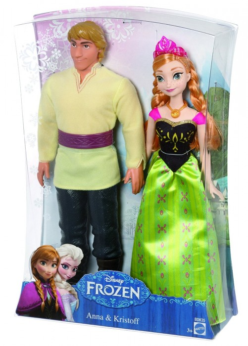 Disney Frozen Anna and Kristoff Doll, 2-Pack