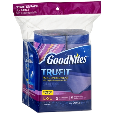 GoodNites TruFit Underwear Starter Pack