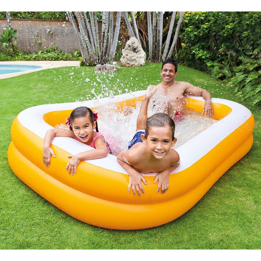 Intex swim center family inflatable pool only reg - Intex pool aldi ...
