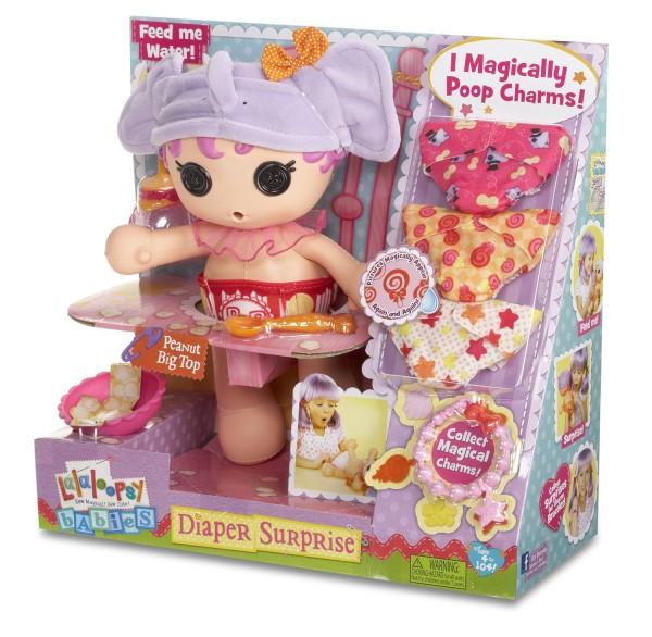 Lalaloopsy Babies Diaper Surprise Peanut Big Top Doll