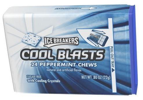 ice breakers cool blast mint chews