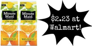 Walmart: Minute Maid Juice Only $2.23!