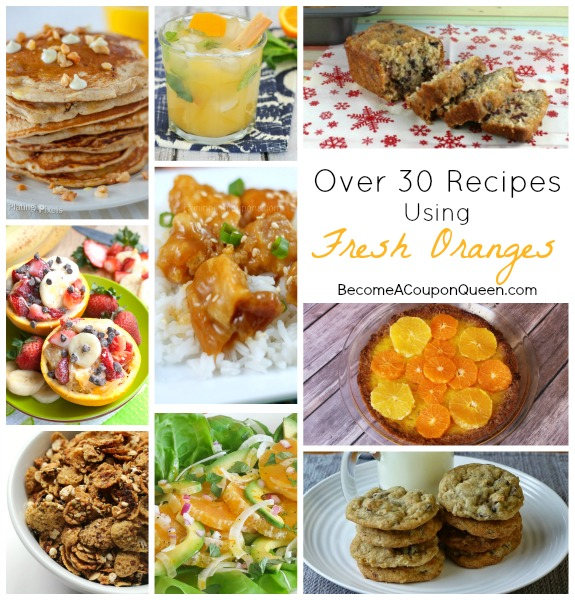 over 30 recipes using fresh oranges