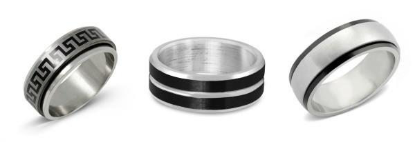 stainless steel men's rings