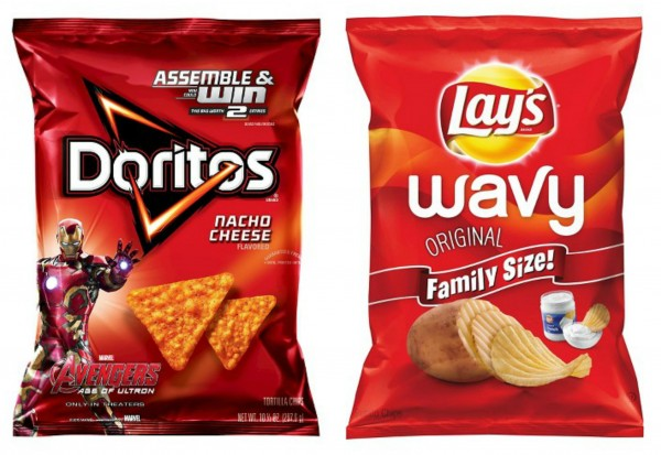 Doritos and Lays Chips