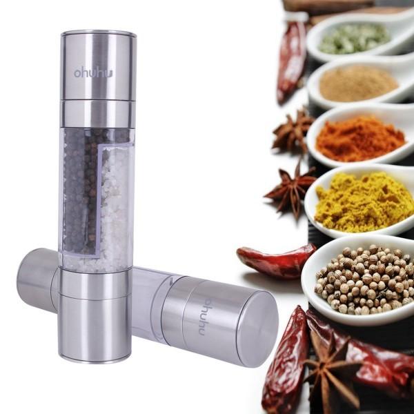 Ohuhu 2 in 1 Salt & Pepper Grinder Set