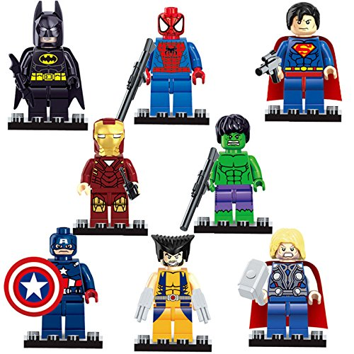 Super Heroes Minifigures Building Toys