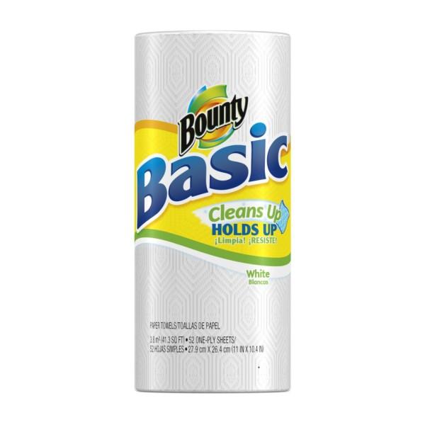 bounty basic paper towel single roll