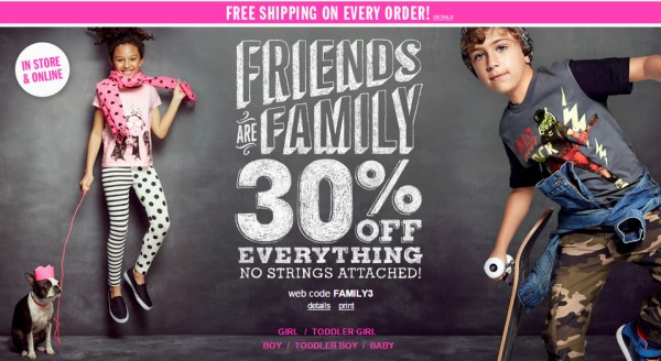 Children's Place Sale: 30% off + FREE Shipping! - Become a ...